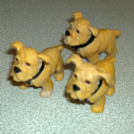#111 Winston Bulldog  Vintage Puppy in my pocket dogs 90's MEG